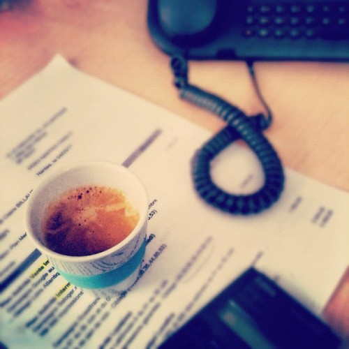 Coffee at work (Pris avec Instagram à G et A links)