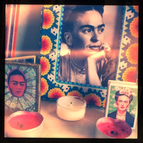Viva Frida on my mantelpiece