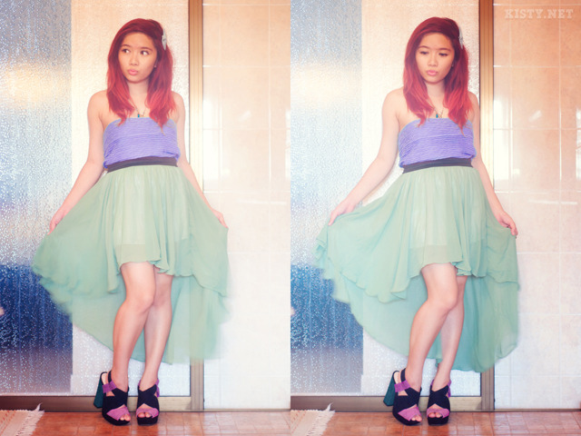 The Style Mermaid by Kisty Mea • ARIEL Red Hair + Purple Top + Green Skirt