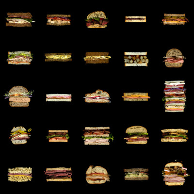Scans of sandwiches for Education and Delight…