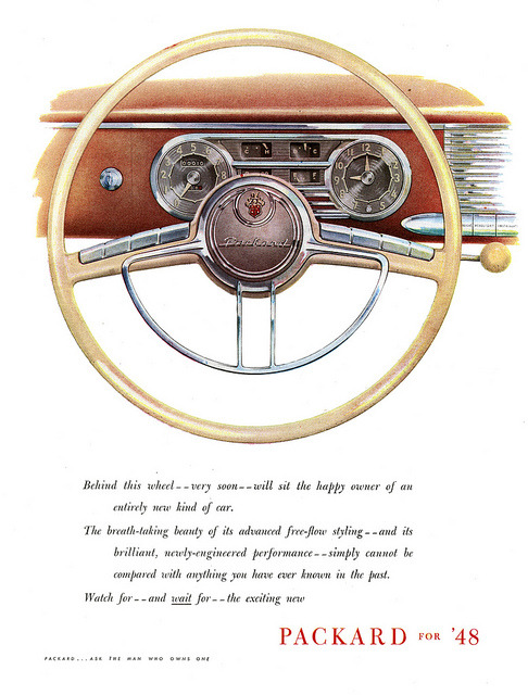 Packard Puts You Behind The Wheel For '48 by paul.malon on Flickr.