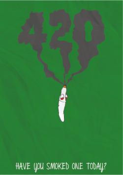 weed marijuana smoke cannabis blunt joint 420 Smoking Poster 4/20