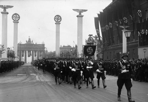 kampfgruppe:  Military parade in Berlin on Hitler's 50th birthday, 1939.