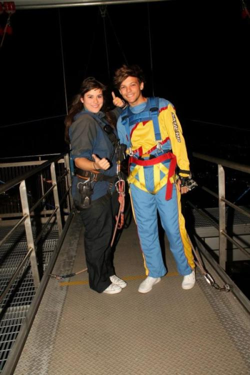 Louis before he bungy jumps in New Zealand