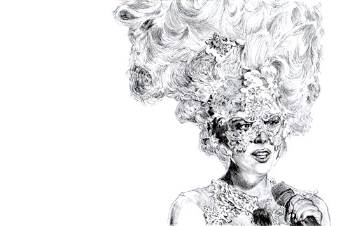 My request for Robert to draw this image of Lady Gaga… IT LOOKS AMAZING!!!!! Very spot on with the detail :D I love it!