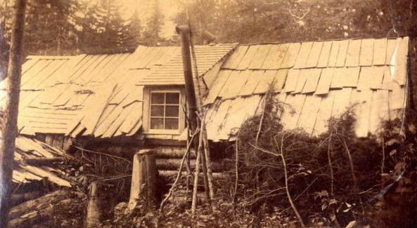 Cabin in Aroostook Co. Ca 1900