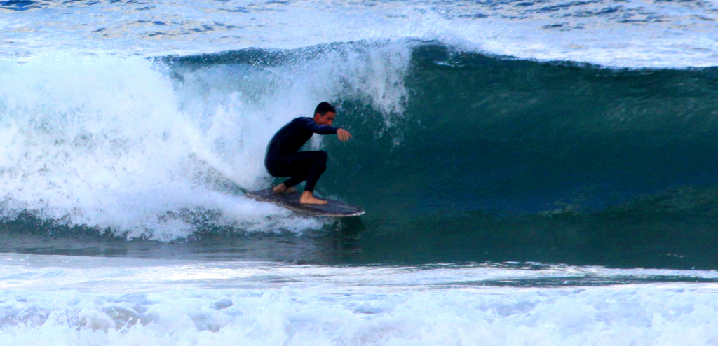 Matt Berry surfing the Du Bull. Shaped by Timothy Newman.