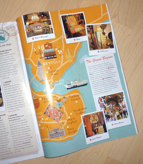 Here's a snapshot of the final Istanbul map illustration for Homes & Antiques magazine, shown in context.[zaraillustrates.com]