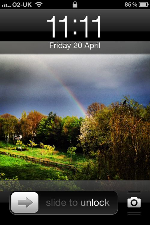 '1111' The Rainbow from Yesterday (previously)
