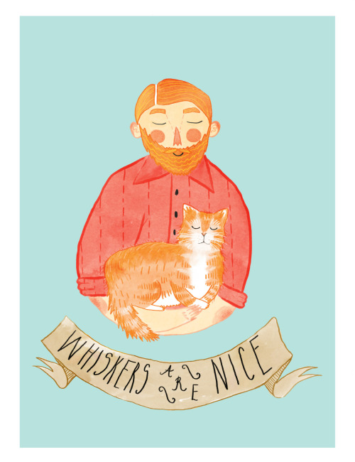 eatsleepdraw:  An ode to my two favourite things: cats and beards! Print and other fancy things available here!