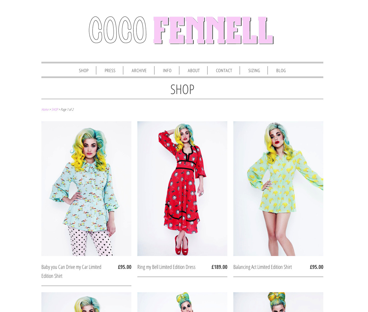 Whoaaa! Look at Coco Fennell's new line of dresses, textiles done by yours truly! Beautiful cuts.