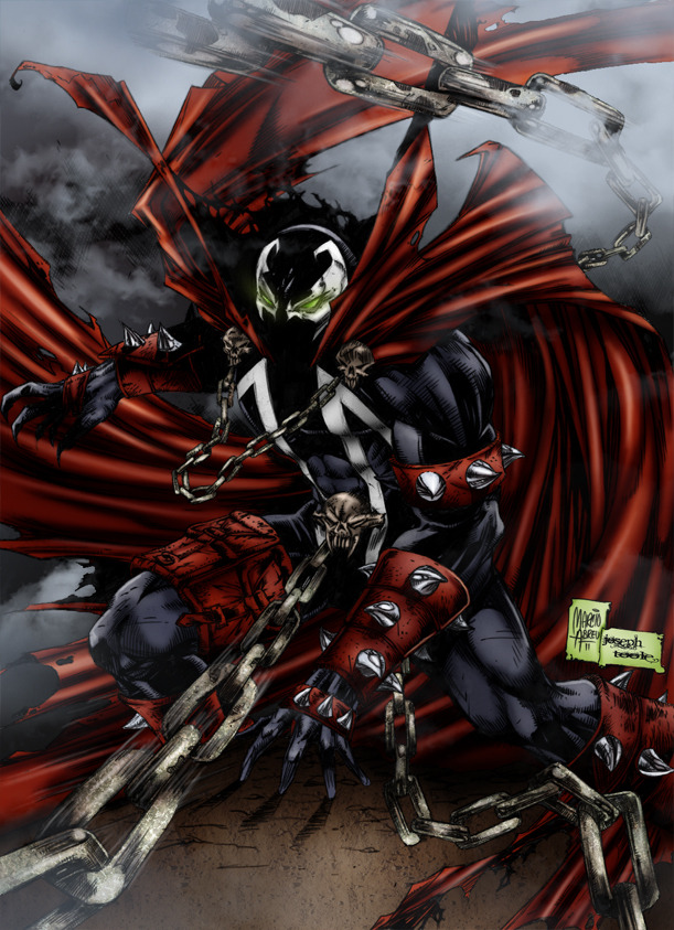 latanieredecyberwolf:  Spawn en a assez de ses chaînes ! Spawn by *TVC-Designs SPAWN. Enough said.