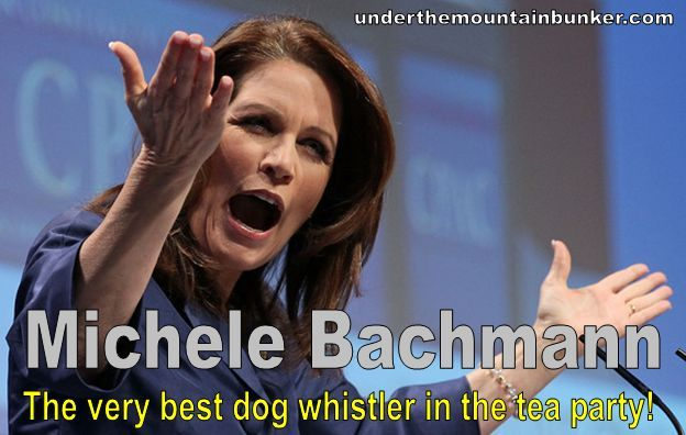 "underthemountainbunker:  … MICHELE BACHMANN accuses President Obama of  'waving a tar baby in the air' – ""This is just about waving a tar baby in the air and saying that something else is a problem,"" Bachmann told Florida-based conservative news organization Shark Tank on Wednesday. ""I have never seen a more irresponsible president who is infantile in the way that he continually blames everyone else for his failure to first diagnose the problem and second to address the problem. It's always everyone else's fault,"" the Tea Party darling added. The term originates from the ""Uncle Remus"" stories, in which a doll made of tar and turpentine is used to snare Br'er Rabbit. While ""tar baby"" is defined in the Merriam-Webster dictionary as ""something from which it is nearly impossible to extricate oneself,"" it has long been recognized as a derogatory term for African Americans."
