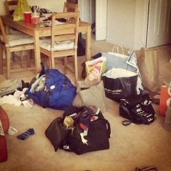 Home sweet home? What our apt looks like the day after vacay (Taken with instagram)