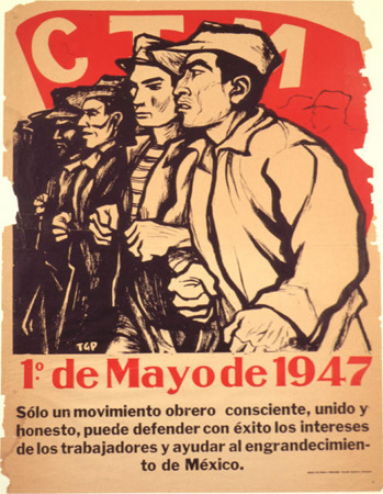 maydaynyc:  1 de mayo de 1947 - poster in Spanish for may 1st