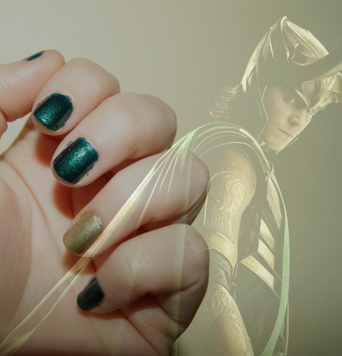 mostengaging:  Laufeyson.Barry M- Racing GreenBarry M- Foil Effects: Gold