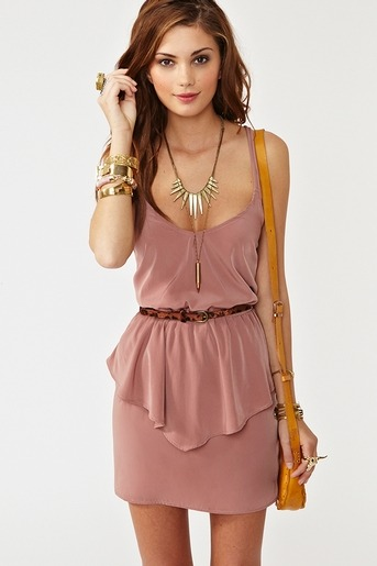 Loving this dusty rose peplum dress at only $58.00.