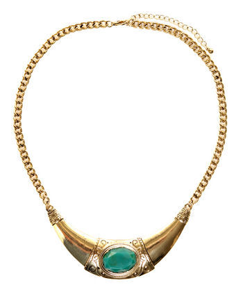 Egyptian inspired gold collar necklace… such a statement piece!