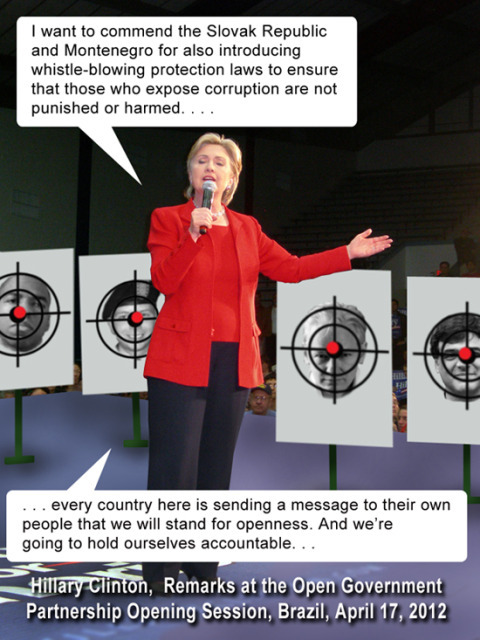 "Hillary Clinton's ""Open Government"" speech in Brazil - with illustrated additions."