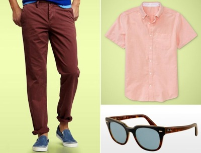 Esquire's Spring Shopping Picks. Gap chinos, shirt and Ray Bans. http://1j2.com/XH