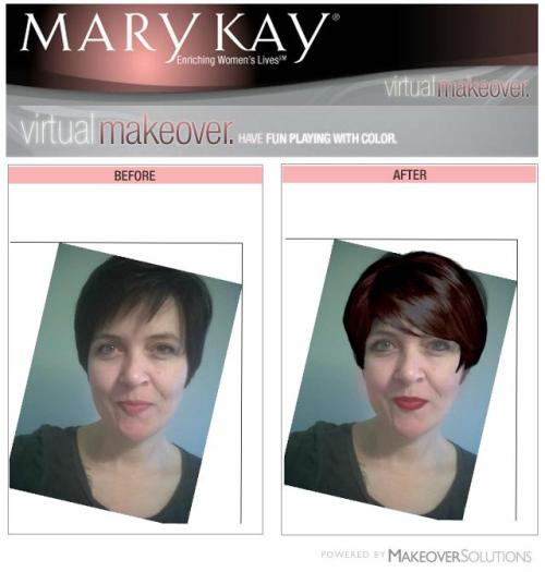Welcome, submit your Mary Kay Virtual Makeover photos.  You can download .jpeg's from the site when you finish your makeover here.  Use the submit button to the right to submit your photos.  You can also submit a before photo and and a makeover will be done for you!