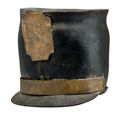 U.S. Leather Militia Bell Shako at Cowan's Auctions
