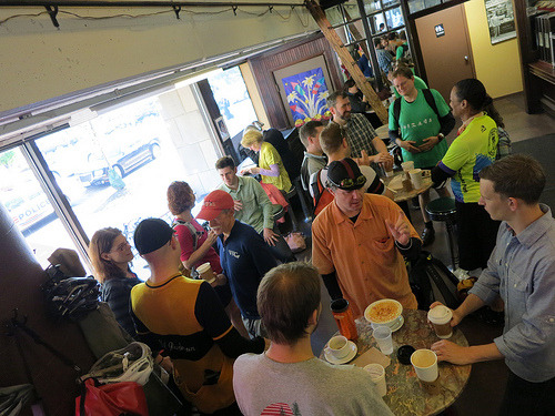 Some of the #BikeDC folks at today's Friday Coffee Club (photo by PedroGringo)