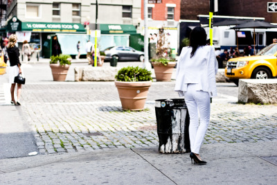 Spotted White Denim in the Meatpacking District…West Village, NYC (via WhatsYourPersona)
