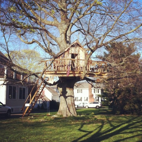 Came across this treehouse yesterday and wished I was the kids that played in it #iwannabeakidagain (Taken with instagram)
