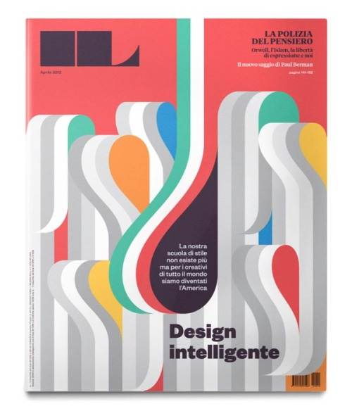 "weandthecolor:  IL magazine #40 - Editorial Design, Illustration and Typography Cover design and illustrations by La Tigre.  ""The issue is about evolution and history of italian design. All the illustrations are like technical drawings and design sketches.""  via: WE AND THE COLORFacebook // Twitter // Google+ // Pinterest"