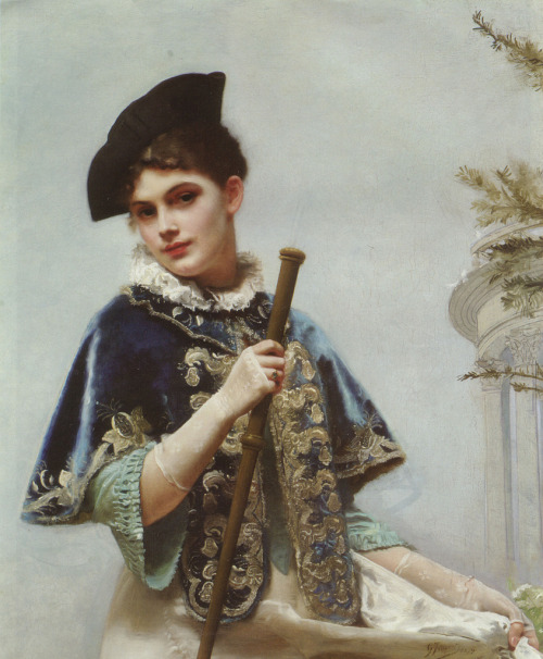 This could have been me in a past life: Gustave Jean Jacquet (1846-1909) - A portrait of a noble lady