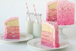 ombre wedding cakes pink edition