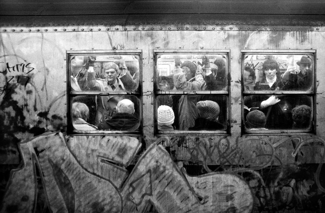 William E. Sauro, NYC subway car, 1981