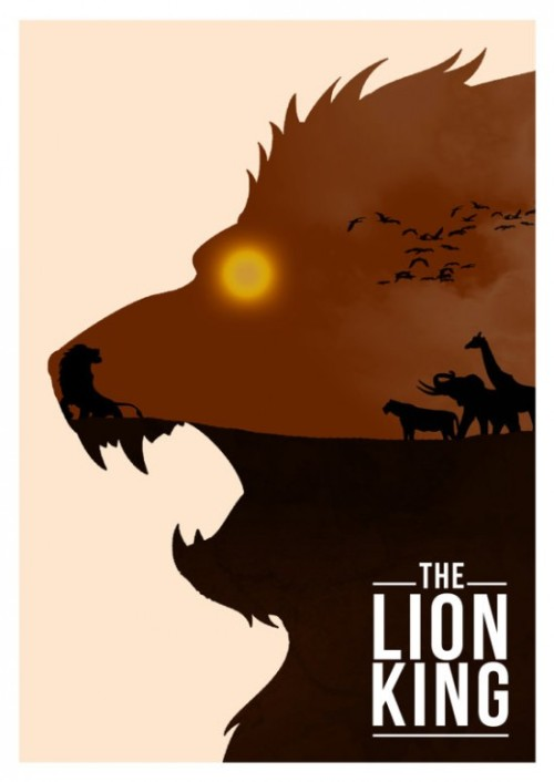 "minimalmovieposters:  The Lion King by Rowan Stocks-Moore  ""It is time."""