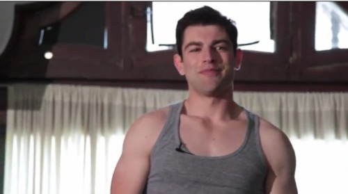 hellogiggles:  SCHMIDT'S WORK OUT VIDEO by Zooey Deschanel