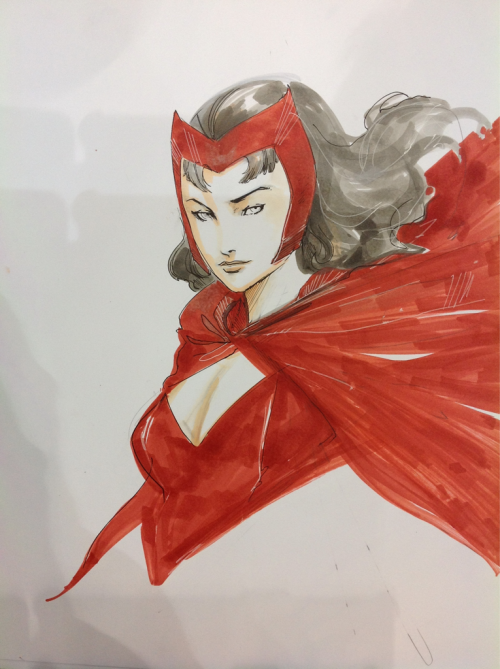 Done for #c2e2 hope and scarlet witch are big players this year and both very fun.