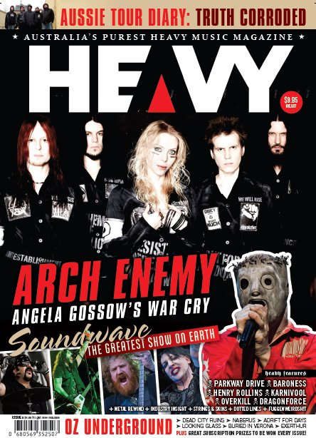 The new issue of HEAVY magazine is out now and features my interview with Overkill and a bunch of other cool things I did. This magazine rocks hard and you should invest your time in a copy.