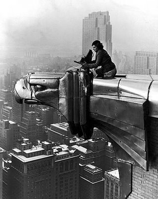 The woman is Margaret Bourke-White. She was one of the leading news reporters of the twentieth century. But she did not write the news. She told her stories with a camera. She was a fearless woman of great energy and skill. Her work took her from America's Midwest to the Soviet Union. From Europe during World War Two to India, South Africa and Korea. Through her work, she helped create the modern art of photojournalism.  Via