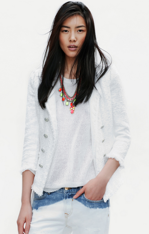 Liu Wen, Zara Spring Lookbook 2012