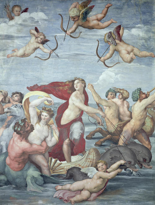 The Triumph of Galatea,  Fresco by Raphael ~1512