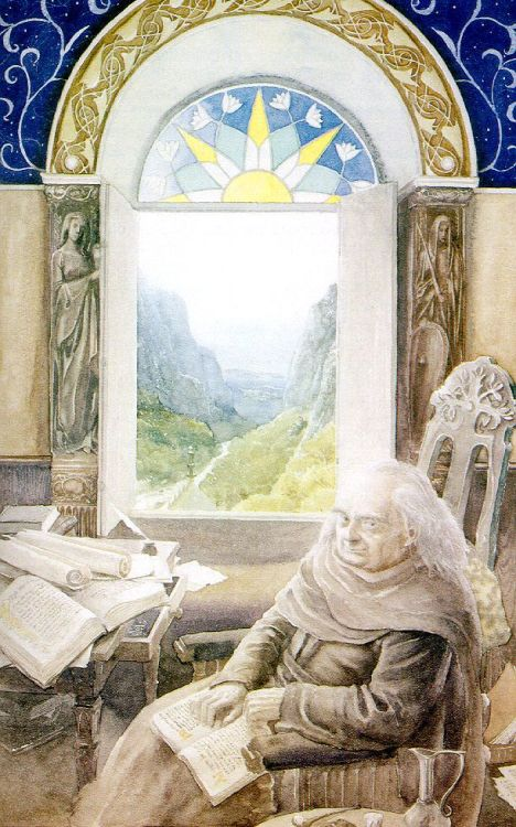 An Old Bilbo in Rivendell