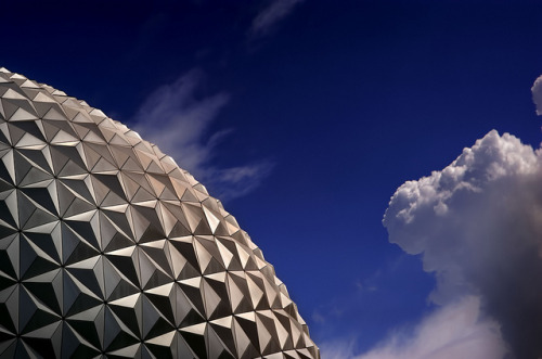 A Slice of Spaceship Earth in the Morning by Express Monorail on Flickr.