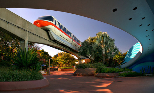 Monorail Monday - Classic Epcot Monorail and Living Seas by Express Monorail on Flickr.