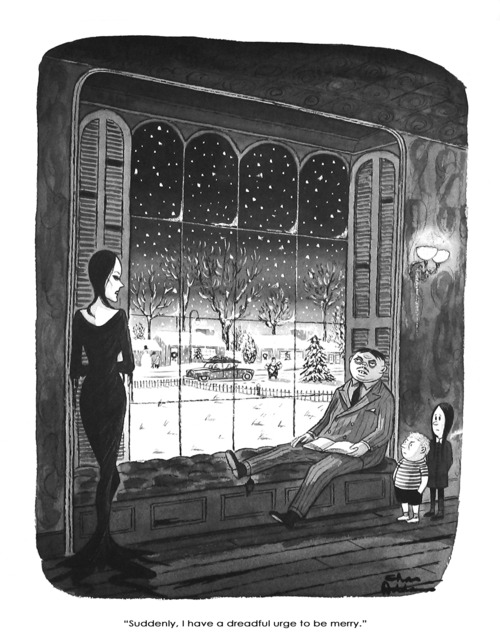 All artwork copyright Charles Addams with permission of the Tee and Charles Addams Foundation.