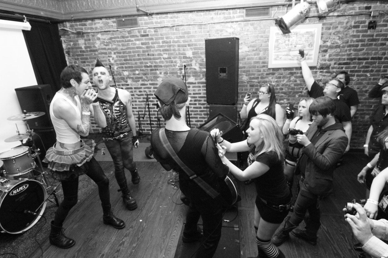 [0PT-0UT] performs live @ Jewish Mother in Norfolk, VA on 3-12-12. Photo by Billy Joyner.