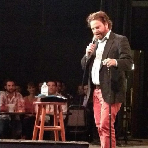 I opened for Zach Galifianakis headlined show last night! Yup. I got no shame.  I'm gushing.