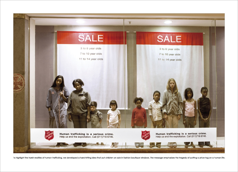 Salvation Army and Leo Burnett campaign against human trafficking in South Africa