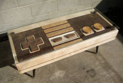 A functional Nintendo controller coffee table