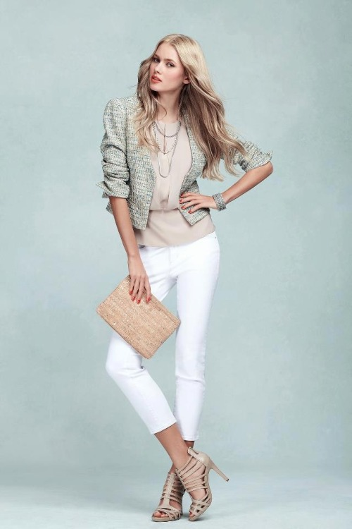 anntaylor:  Classic Look, Modern Twist Elevate your wear-to-work look with a modern take on the classic tweed jacket. Click here to get the look!