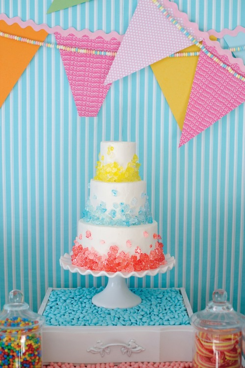 parenting:  Sweet Shop Add rock candy to embellish your cake!